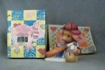 Enesco This Little Piggy Cried Whee All The Way Home 124567 Baseball Mary Rhyner
