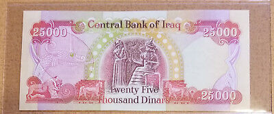 25,000 New Iraqi Dinar Uncirculated Note/Currency
