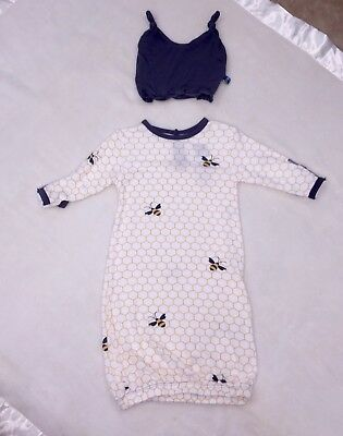 Kickee Pants Boy Girl Gown With Hat NWT 3-6 Months