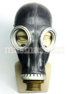 soviet russian black gas mask GP-5 size 1 small black rubber gas mask GP-5