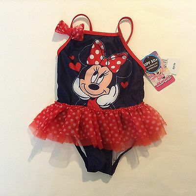 NWT Baby Girl Swim Suit clothes size 12 months Disney Minnie Mouse