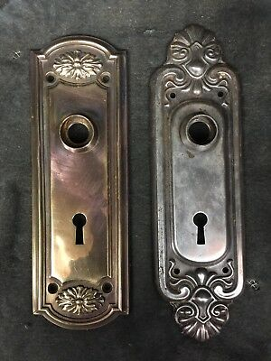 Antique Vintage Hardware ~ 2 Fancy Door Knob Back Plates