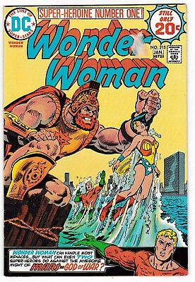 WONDER WOMAN #215 (VG/FN) Diana Prince! AQUAMAN Cover Story Appearance! DC