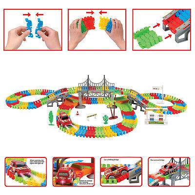 Children's Toys Track Set Toddler Development Playset With Race Car,Flexible an