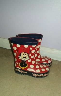 young girls disney minnie mouse wellies welly boots size 5 toddler