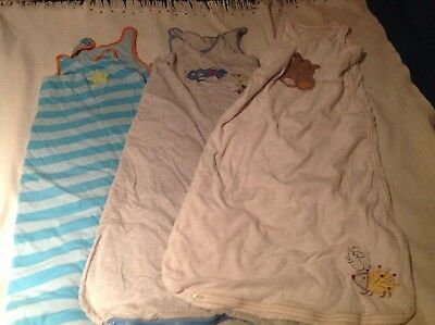 Three Gro Bags/Sleeping Bags (Mothercare) 2.5 Tog 18-36 months