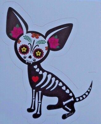 Day Of The Dead Sticker Dia De Los Muertos Chihuahua Sticker Decal New