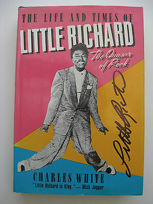 LITTLE RICHARD - Rare AUTOGRAPHED BOOK - SIGNED TWICE - HARDCOVER FIRST EDITION