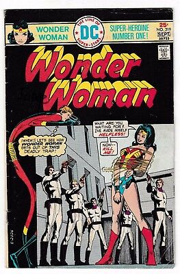 WONDER WOMAN #219 (VG+) ELONGATED MAN Cover Story Appearance! DC 1975