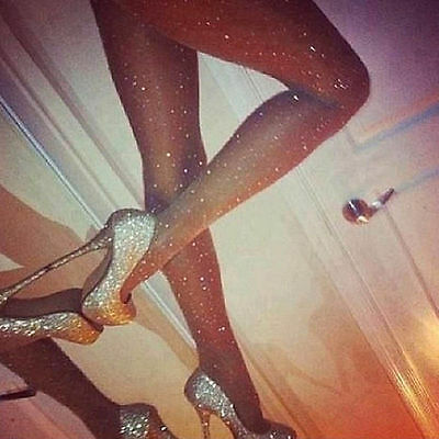 Women Slim Tight Stockings Stretch Bling Rhinestone Glitter Pantyhose Thin HOT
