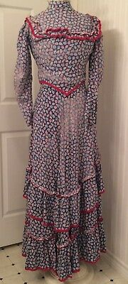 Colonial or civil war reenactment dress, 3 piece w bonnet probably from 1930's