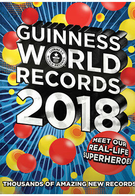 NEW Official 2018 Guinness Book Of World Records 2018 Hardback Book RRP £20.00