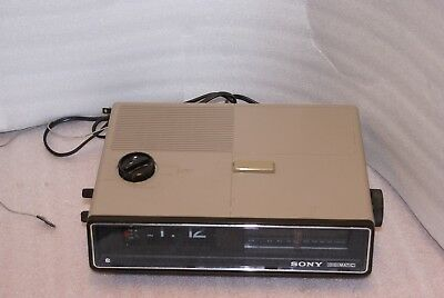 SONY Digimatic Model ICF-C57OW AM FM Digital Flip Clock Radio WORKS AS IS