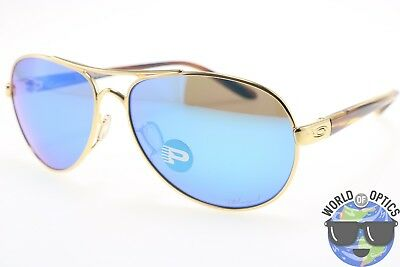 Oakley Women's Sunglasses TIE BREAKER OO4108-15 Gold w/Sapphire Iridium Lens