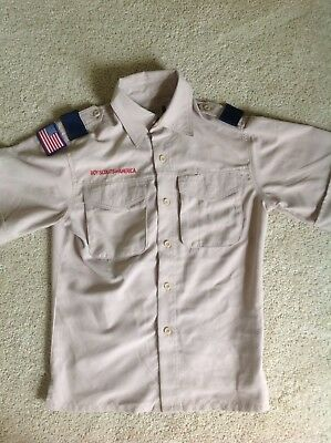 BSA Boy Scouts Cub Webelos Shirt Youth Medium GUC