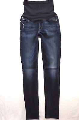 7 For All Mankind Jeans size 25 Skinny leg Dark wash A Pea in the Pod Maternity