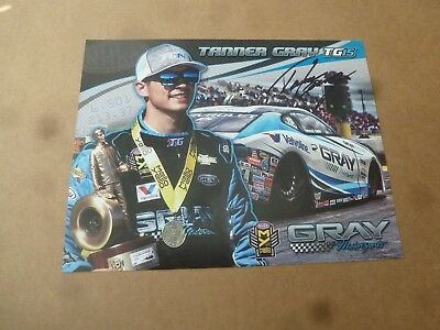 Nhra Handout/photo Autographed Tanner Gray 2017' Gray Motorsports Ps 2Nd Edition