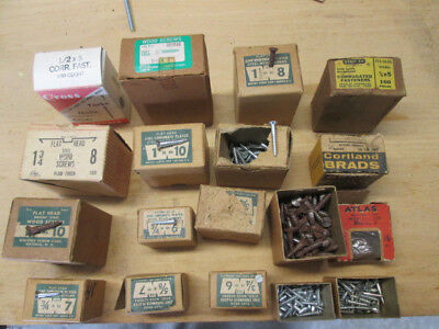 Vintage Wood Screws In Boxes