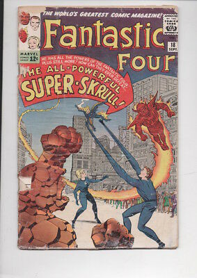 FANTASTIC FOUR #18 comic book/from 1963/Way below Guide...ONLY $9.95!
