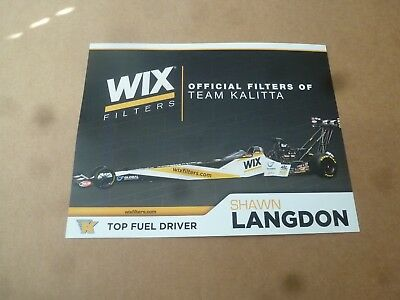 Nhra Handout/photo 2017' Shawn Langdon Wix Filters Top Fuel Dragster