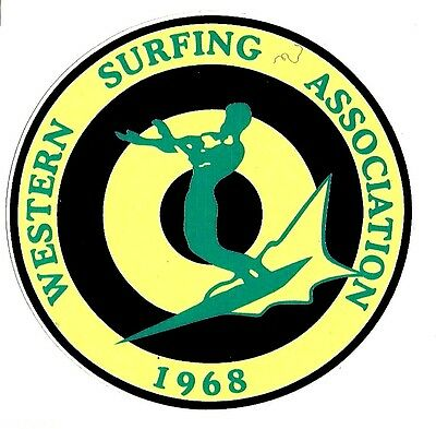 1968 UNITED STATES SURFING ASSOC. Surfboard Sticker Decal LONGBOARD Surfing