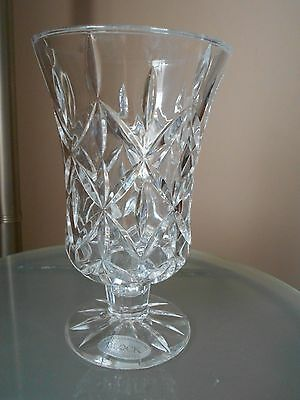 Block Handcrafted Clear Vase Crafted 24 Full Lead Crystal 999