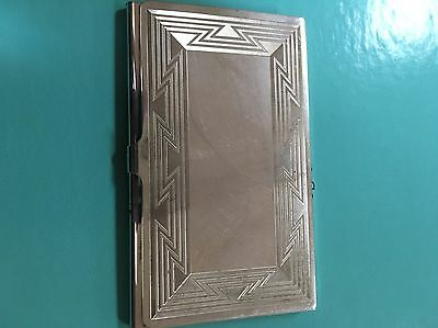 Tiffany & Co sterling silver business card case Native American Indian pattern
