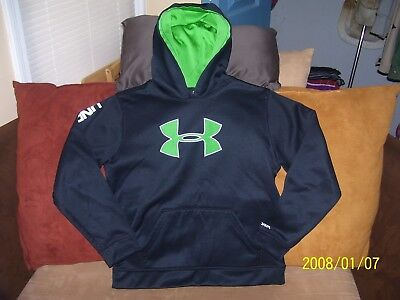 Boy's Black Under Armour Loose Storm Hoodie Size Youth L