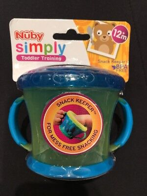 Baby - Nuby Toddler - Snack Keeper Pot - Yellow/Blue - New