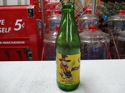 Faygo Moonshine Green Glass Ndnr Paper Label Soda Hillbilly Bottle Detroit Mich