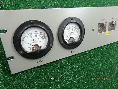 BIRD Thruline 4526 Dual meter/Line Wattmeter rack mount  NO slugs  FAST SHIP #5