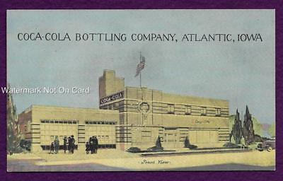 Postcard Coca Cola Bottling Company Atlantic Iowa Front View
