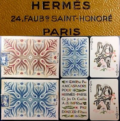 Verified 1st Edition High Grade 1948 Hermes Draeger Frères Playing Cards Box Set