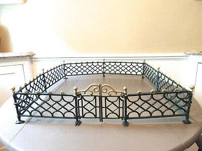 Vintage NOS Cast Iron Toy Train Doll House Fence