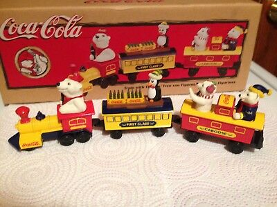 Vintage Adult Collectable  Coca Cola Train With Figures