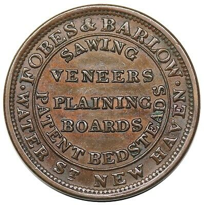 (1836-37) Hard Times Token, New Haven, CT: Fobes & Barlow, Low 291, nice XF-AU