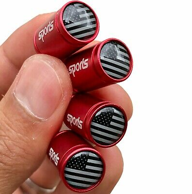 """ALUMINUM Firefighter Thin Red Line American Flag Decal Sticker 3.2"""" x 1.75"""""""