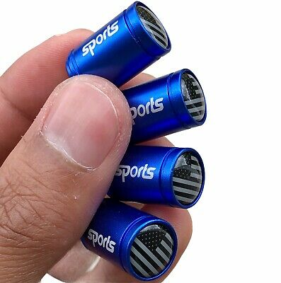"""TWO Aluminum Firefighter Thin Red Line American Flag Decal Stickers 3.2"""" x 1.75"""""""