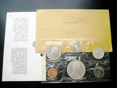 1965 Canada ((Proof Like)) Silver 6 Coin Mint Set Choice Unc Bu Coin