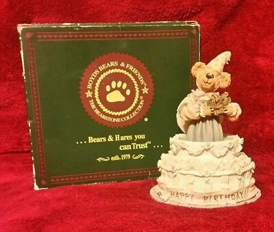 Boyds Bear GYPSY ROSE SURPRISE Happy Birthday Figurine #228332