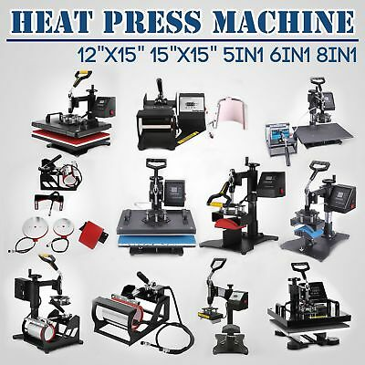 Heat Press Machine T-shirt Photo Clam Sublimation Pressing Cap Flat Transfer