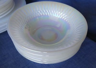 Desert Bowls Retro Vintage Federal Glass MOONGLOW Iridescent Pearl Lustre