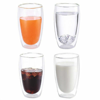 Double Heat Resistant  Layer Thermo Pyrex Glass Latte Coffee Glasses 250ml