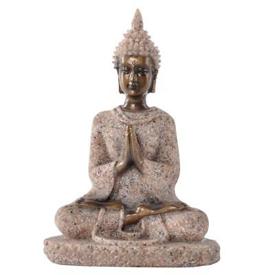Sand Stone Sculpture Meditation Buddha Statue Hand Carved Wealth Hindu#3