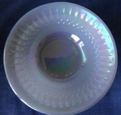Small Desert Bowls Retro Vintage Federal Glass MOONGLOW Iridescent Pearl Lustre