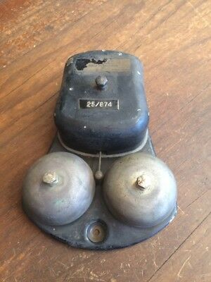 ANTIQUE GENERAL ELECTRIC Co LTD OF ENGLAND BRASS ALARM BELL. ESTATE ITEM.
