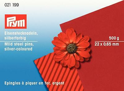 Prym 500g Iron Pins 0,65 x 22 mm Decoration white / nickel plated 021199