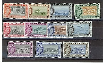 Bahamas 1954 Queen Elizabeth Definitives set to 1s. Mint