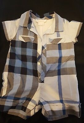 Burberry baby boys one piece size 3mth