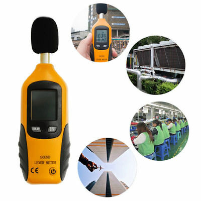 LCD Digital Sound Level Noise Meter DB Measure Tester Decibel Pressure Monitor